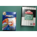 Dixon Prang Chalk: Dustless, 6 Color Sticks