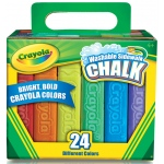 Crayola® Sidewalk Chalk 24-Color Set: Multi, Stick, (model 51-2024), price per set