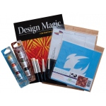 "Cedar Canyon Textiles DesignMagic™ Stencil Sampler: Blue, 7"" x 7"", Patterned Stencil, (model CCT402K), price per set"