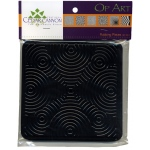 "Cedar Canyon Textiles Op Art Rubbing Plate Set: Black/Gray, 7"" x 7"", Rubbing Plate, (model CCT4001), price per set"