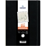 "Canson® ArtBook™ Universal 8.5"" x 11"" Universal Book: Sewn Bound, White/Ivory, Book, Black/Gray, 112 Sheets, 8 1/2"" x 11"", Drawing, 65 lb, (model C200006457), price per each"