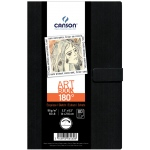 "Canson® ArtBook™ 180° 5-1/2"" x 8-1/2"" Spineless Book: Sewn Bound, White/Ivory, Book, Black/Gray, 80 Pages, 5 1/2"" x 8 1/2"", Drawing, 65 lb"