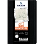 "Canson® ArtBook™ Universal 4"" x 6"" Universal Book: Sewn Bound, White/Ivory, Book, Black/Gray, 112 Sheets, 4"" x 6"", Drawing, 65 lb, (model C200006455), price per each"