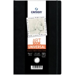 "Canson® ArtBook™ Universal 5.5"" x 8.5"" Universal Book: Sewn Bound, White/Ivory, Book, Black/Gray, 112 Sheets, 5 1/2"" x 8 1/2"", Drawing, 65 lb, (model C200006456), price per each"