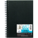 "Canson® ArtBook™ 5.5"" x 8.5"" Mix Media Wirebound Books: Wire Bound, White/Ivory, Book, Black/Gray, 40 Sheets, 5 1/2"" x 8 1/2"", Mix Media, 138 lb"