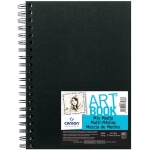 "Canson® ArtBook™ 7"" x 10"" Mix Media Wirebound Book: Wire Bound, White/Ivory, Book, Black/Gray, 40 Sheets, 7"" x 10"", Mix Media, 138 lb"