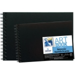 "Canson® ArtBook™ Montval® 10"" x 7"" Field Watercolor Wirebound Book: Wire Bound, White/Ivory, Book, Black/Gray, 20 Sheets, 7"" x 10"", Watercolor, 140 lb, (model C100510439), price per each"