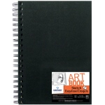 "Canson® ArtBook™ Artist Series 7"" x 10"" Wirebound Sketchbook: Wire Bound, White/Ivory, Book, Black/Gray, 80 Sheets, 7"" x 10"", Sketching, 65 lb, (model C100510427), price per each"