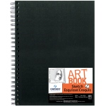 "Canson® ArtBook™ Artist Series 9"" x 12"" Wirebound Sketchbook: Wire Bound, White/Ivory, Book, Black/Gray, 80 Sheets, 9"" x 12"", Sketching, 65 lb"
