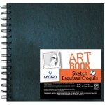 "Canson® ArtBook™ Artist Series 6"" x 6"" Wirebound Sketchbook: Wire Bound, White/Ivory, Book, Black/Gray, 80 Sheets, 6"" x 6"", Sketching, 65 lb"