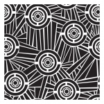 "The Crafter's Workshop 12"" x 12"" Design Template Aboriginal: Clear, 12"" x 12"", Patterned Stencil, (model TCW323), price per each"
