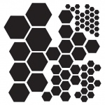 "The Crafter's Workshop 6"" x 6"" Design Template Hexagons: Clear, 6"" x 6"", Patterned Stencil, (model TCW324S), price per each"