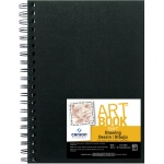 "Canson® ArtBook™ 7"" x 10"" Wirebound Drawing Book: Wire Bound, White/Ivory, Book, Black/Gray, 60 Sheets, 7"" x 10"", Drawing, 90 lb, (model C100510409), price per each"