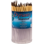 Dynasty® EB-700 Mastodon Canister Series Round Brush Assortment: Short Handle, Synthetic, Round, Acrylic, Oil