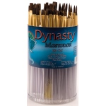 Dynasty® EB-700 Mastodon Canister Series Shader and Round Brush Assortment: Short Handle, Synthetic, Shader, Acrylic, Oil, (model EB725D), price per each