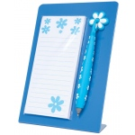 "Mishu Blue Magnetic Notestation Set: Blue, 50 Sheets, 2 1/4""d x 5 1/2""w x 7 1/2""h, Notepad, (model M134), price per set"