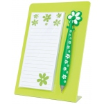 "Mishu Lime Green Magnetic Notestation Set: Green, 50 Sheets, 2 1/4""d x 5 1/2""w x 7 1/2""h, Notepad, (model M133), price per set"