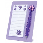 "Mishu Purple Magnetic Notestation Set: Purple, 50 Sheets, 2 1/4""d x 5 1/2""w x 7 1/2""h, Notepad, (model M132), price per set"