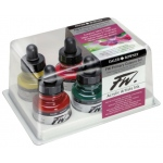 FW Liquid Artists' Acrylic Ink 6-Color Primary Set: Multi, Bottle, Acrylic, 1 oz, (model FW160100006), price per set