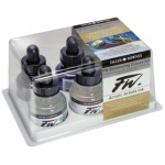 FW Liquid Artists' Acrylic Ink 6-Color Shimmering Set: Metallic, Bottle, Acrylic, 1 oz, (model FW160110006), price per set
