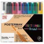 Zig®  Posterman® 6mm Waterproof Marker Set: Multi, Water-Based, Broad Nib, (model PMA-50/8V), price per set