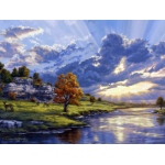 "Reeves™ Large Painting By Numbers River's Edge: Multi, 12"" x 16"", (model PBNACL8), price per each"