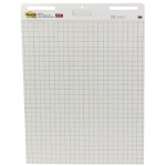 "Post-It® Gridded Easel Pads: Glue Bound, White/Ivory, Pad, 30 Sheets, 25"" x 30"", Sticky Notes, (model P560), price per 30 Sheets pad"