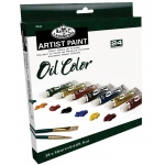 Royal & Langnickel® Oil Paint 24-Color Set: Multi, Tube, 12 ml, Oil, (model ROIL24), price per set
