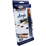 Royal & Langnickel® 12-Color Acrylic Paint Sets: Multi, Tube, 12 ml, Acrylic, (model RACR12), price per set