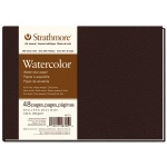 "Strathmore® 400 Series 8 1/2"" x 5 1/2"" Sewn Bound Watercolor Art Journal: White/Ivory, Journal, 48 Sheets, 8 1/2"" x 5 1/2"", Cold Press, Watercolor"