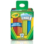 Crayola® Sidewalk Chalk 12-Color Set: Multi, Stick, (model 51-2012), price per set