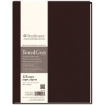 "Strathmore® 400 Series 8 1/2"" x 11"" Sewn Bound Toned Gray Sketch Art Journal: Black/Gray, Journal, 128 Sheets, 8 1/2"" x 11"", Sketching"