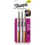 Sharpie® Fine Point Metallic Gold/Silver/Bronze Permanent Marker Set: Metallic, Fine Nib, (model SN1823815), price per set