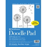 "Strathmore® 100 Series 9"" x 12"" Tape Bound Doodle Pad: Tape Bound, White/Ivory, Pad, 60 Sheets, 9"" x 12"", Drawing, (model ST27-009-1), price per 60 Sheets pad"