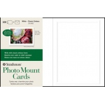 "Strathmore® Embossed Photo Mount Cards 100-Pack: White/Ivory, Card, 100 Cards, 5"" x 6 7/8"", Mounting"