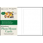 "Strathmore® Embossed Photo Mount Cards 50-Pack: White/Ivory, Card, 50 Cards, 5"" x 6 7/8"", Mounting"