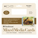 "Strathmore® 400 Series Mixed Media Full Size Cards 10-Pack: White/Ivory, Card, 10 Cards, 5"" x 6 7/8"", Mixed Media"