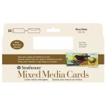 "Strathmore® 400 Series Mixed Media Slim Size Cards 10-Pack: White/Ivory, Card, 10 Cards, 3 2/3"" x 8 1/2"", Mixed Media"