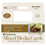 "Strathmore® 400 Series Mixed Media Announcement Size Cards 10-Pack: White/Ivory, Card, 10 Cards, 3 1/2"" x 4 7/8"", Mixed Media"