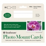 "Strathmore® Embossed Photo Mount Cards 10-Pack: White/Ivory, Card, 10 Cards, 5"" x 6 7/8"", Mounting, (model ST105-182), price per 10 Cards"