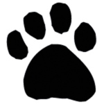 Sarasota Stamps Mounted Rubber Stamp: Paw Silhouette