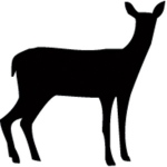 Sarasota Stamps Mounted Rubber Stamp: Doe Silhouette