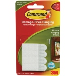 Command™ White Small Hanging Strips: White/Ivory, Picture Hanging Strips, (model 17202), price per pack