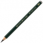 Faber-Castell® 4B Jumbo Graphite Pencils: Black/Gray, 4B, 5.25mm, Drawing, (model FC119304), price per each