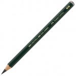 Faber-Castell® 6B Jumbo Graphite Pencils: Black/Gray, 6B, 5.25mm, Drawing, (model FC119306), price per each