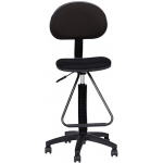 "Mayline® Multi-task Drafting Chair with Footrest: No, Black/Gray, Foot Ring Included, 24"" - 29"", 30"" & Up, Under 24"", Fabric, (model 2610), price per each"
