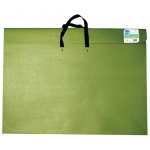 "Star® 14"" x 20"" Earth Friendly Portfolio: Green, 2"", Recycled Fiberboard, 14"" x 20"""