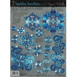 "Hot Off the Press 3-D Papier Tole Die Cuts Snowflakes: Multi, 8 1/2"" x 11"", Dimensional, (model HOTP8015), price per each"