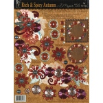 "Hot Off the Press 3-D Papier Tole Die Cuts Rich and Spicy Autumn: Multi, 8 1/2"" x 11"", Dimensional"