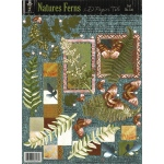 "Hot Off the Press 3-D Papier Tole Die Cuts Nature's Ferns: Multi, 8 1/2"" x 11"", Dimensional, (model HOTP8018), price per each"